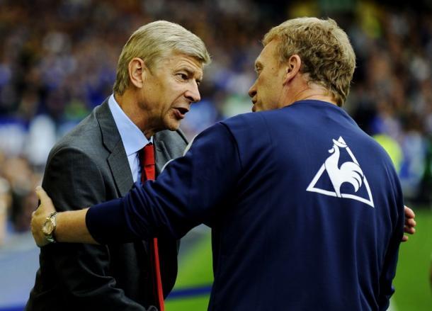 Moyes mostró admiración por Wenger | Foto: Getty Images.