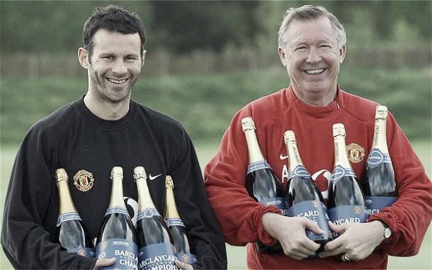 Above: Ryan Giggs with former Manchester United manager Sir Alex Ferguson | Photo: The Telegraph