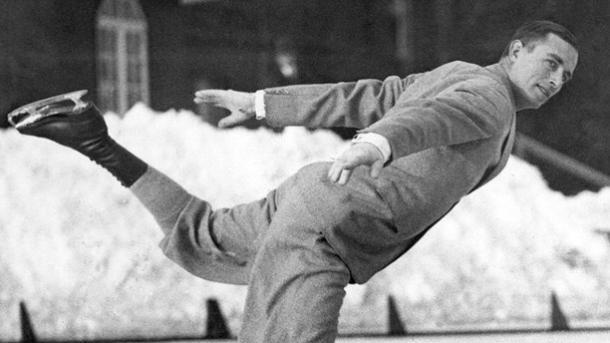 Gillis Grasfström en los Juegos Olímpicos de Invierno de Chamonix 1924. PD.