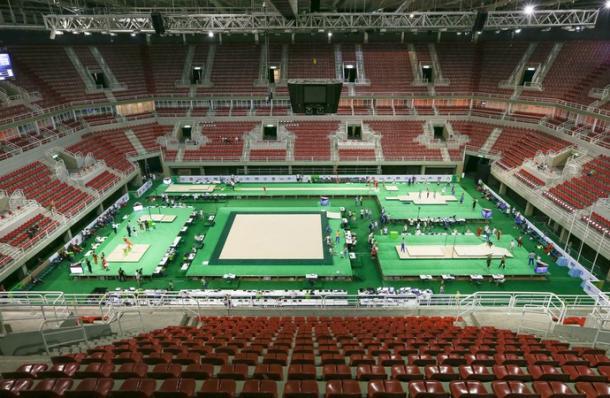 Evento-Teste de Ginástica na Arena Olímpica do Rio (Foto: Ricardo Bufolin/CBG)