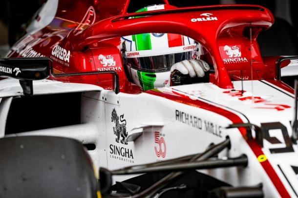 Antonio Giovinazzi. Fuente: Alfa Romeo