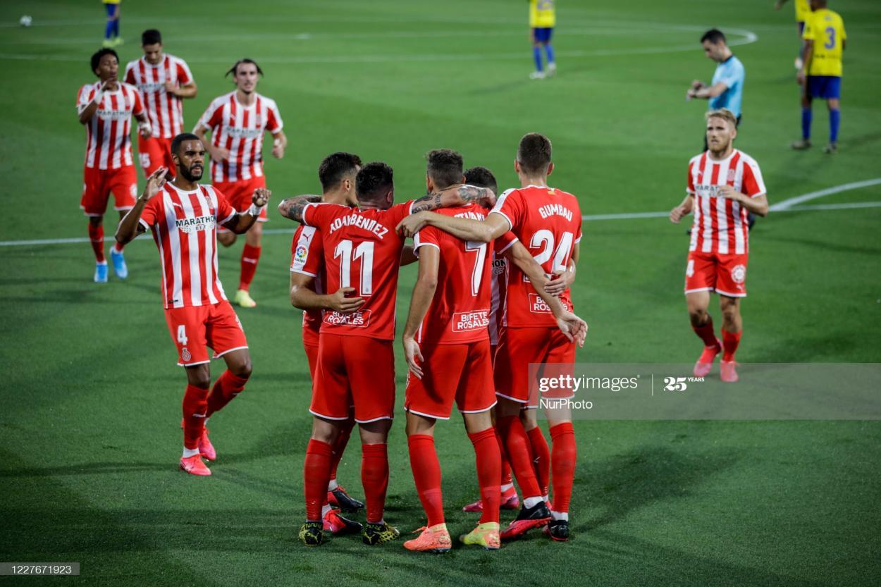 El Girona celebra un gol de Stuani / Foto: Gettyimages