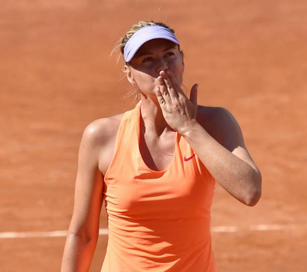 Maria Sharapova after her first round win in Rome against Christina McHale (Getty/Giuseppe Bellini)