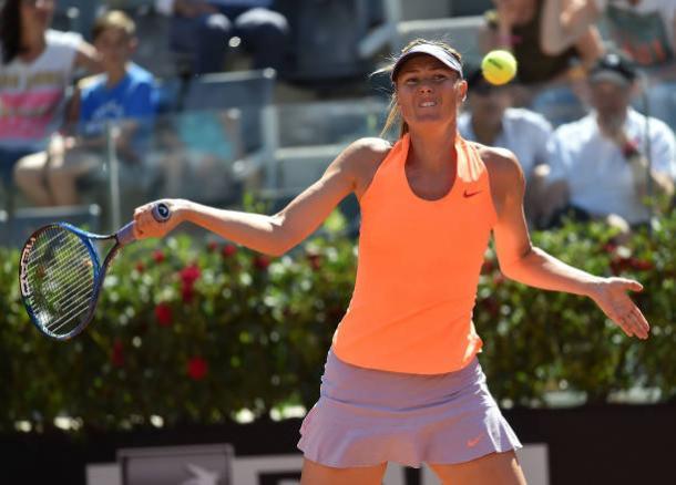 Maria Sharapova in action in Rome (Getty/Giuseppe Bellini)