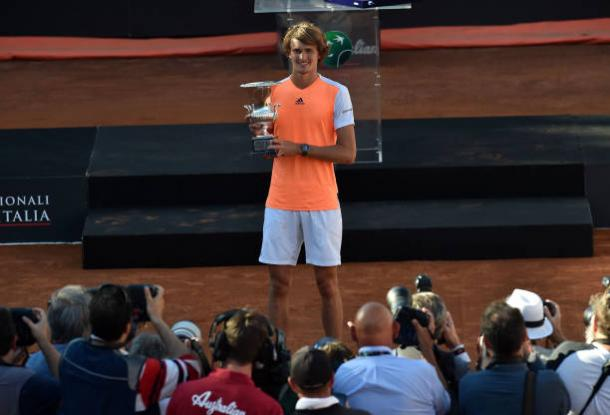 Alexander Zverev after winning his first Masters 1000 title in Rome (Getty/Giuseppe Bellini)