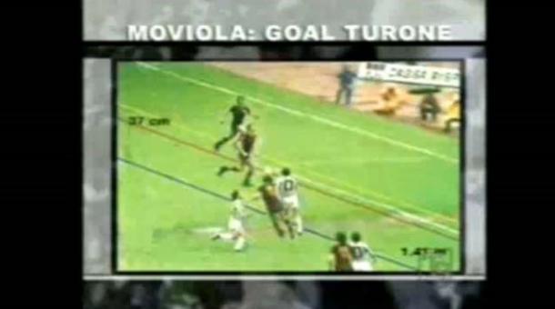 Imagen de la moviola con el Gol de Turone   Foto: Youtube