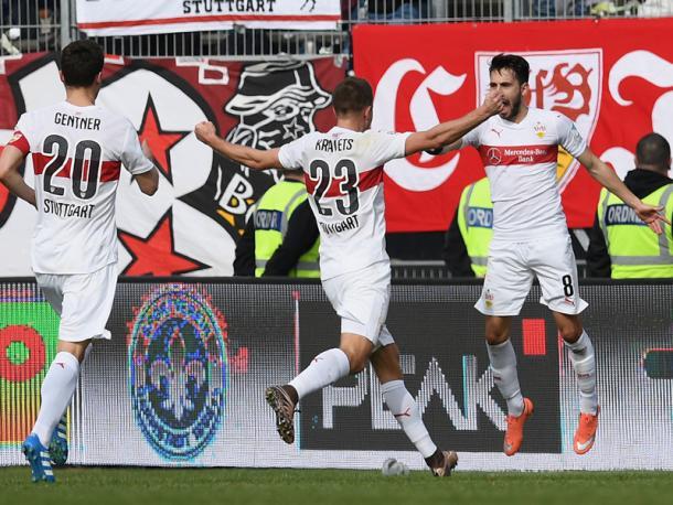 Stuttgart celebrate. | Image: kicker