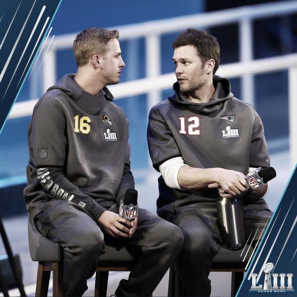 Brady y Goff juntos en el Opening Night