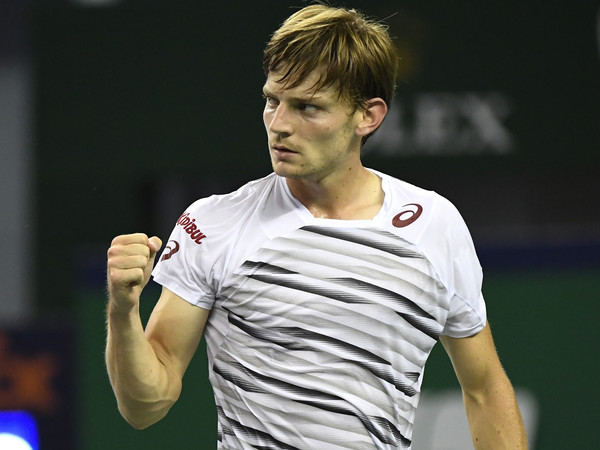 David Goffin pumps his fist. Photo: Kevin Lee/Getty Images