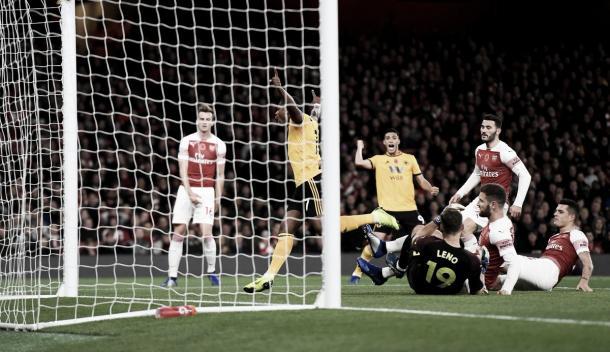 Cavaleiro abrió el marcador. Foto: Wolves.