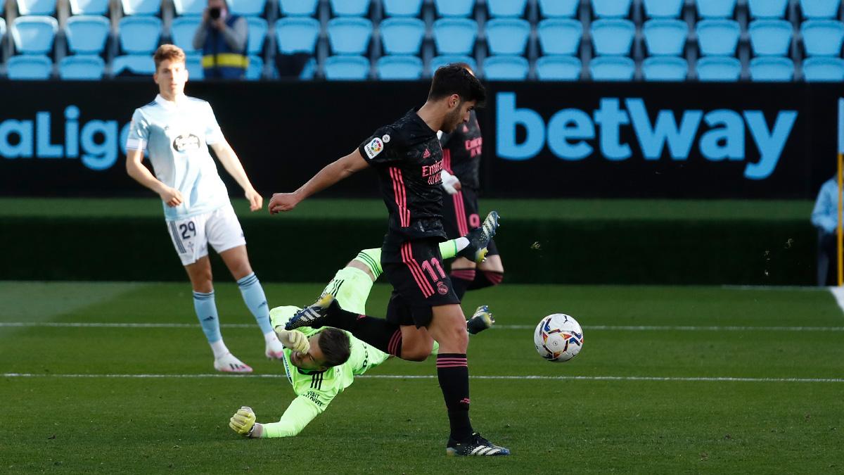 Marco Asensio empuja a portería el 1-3 | Imagen: Real Madrid