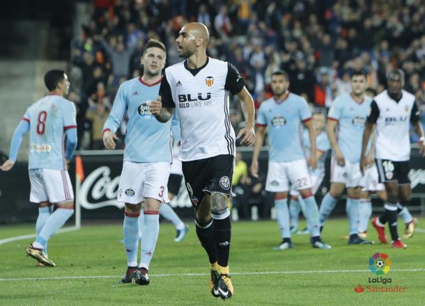 Zaza se anticipó a Fontás en el primer gol | Fotografía: La Liga