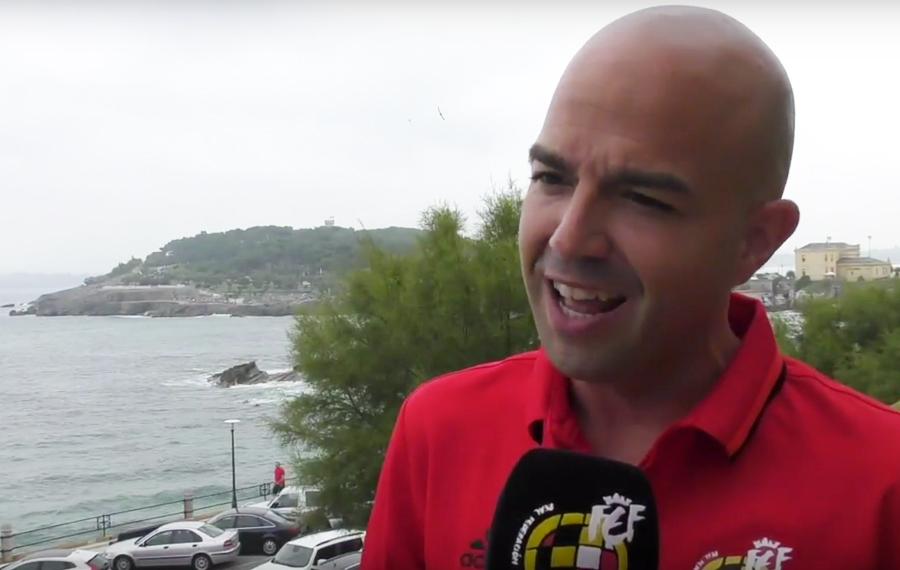 Pablo González Fuertes en una entrevista previa a su debut en LaLiga (2017) / Fuente: rfef.es