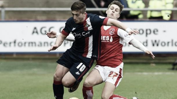 Lynden Gooch in action for Doncaster Roves but has returned to Sunderland through an ankle injury | photo: safc.com