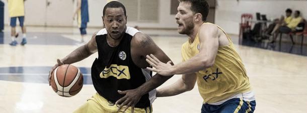 Andrew Goudelock durante un entrenamiento con el Maccabi Electra. Foto: Euroliga.