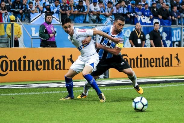 Na semifinal, o Grêmio abriu vantagem contra o Cruzeiro na única derrota celeste fora de casa (Foto: Giazi Cavalcante/Light Press/Cruzeiro)