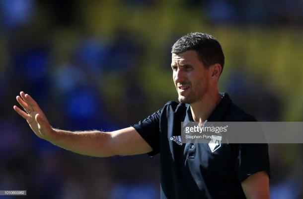 Javi Gracia is starting his first full season in charge of Watford. Source | Getty Images.