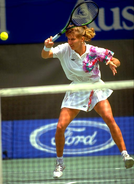 Graf at the 1988 Australian Open. Photo: Sports Illustrated