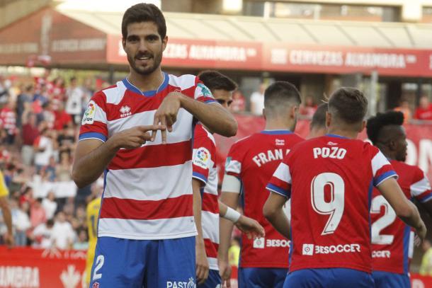 Bernardo celebra su gol | Foto: Antonio L. Juárez