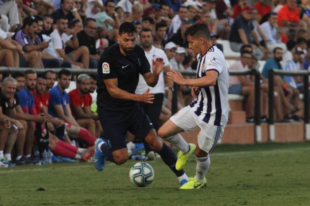 Puertas anotó el segundo gol del Granada | Foto: Antonio L. Juárez