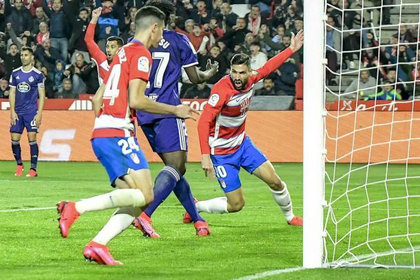 Puertas celebra su gol | Foto: J. Jiménez / PhotographersSports