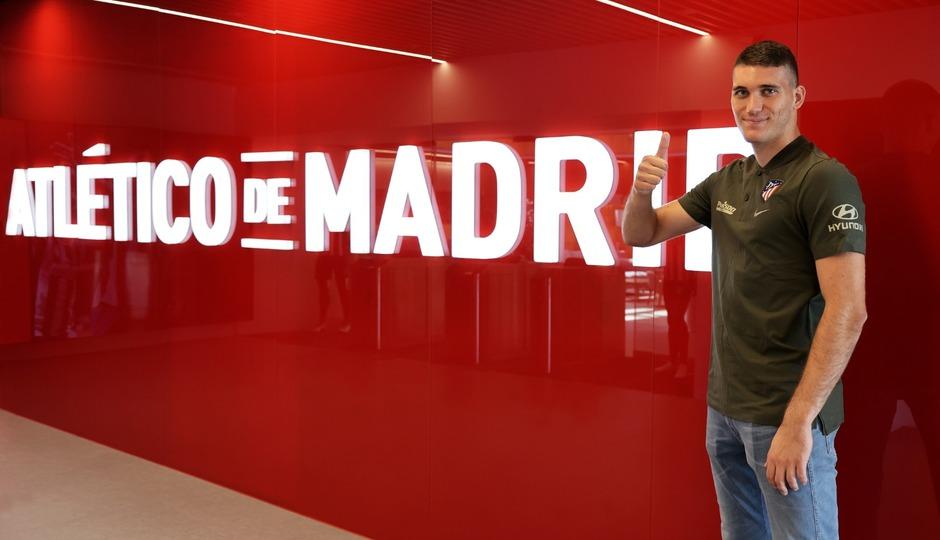 Grbic en la presentación con el Atlético de Madrid   Foto: Atlético de Madrid