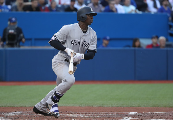 Didi Gregorious left an impression in the bottom of the first. Credit: Tom Szczerbowski/Getty Images North America