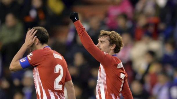 Griezmann celebrando uno de sus goles. Fuente: LaLiga