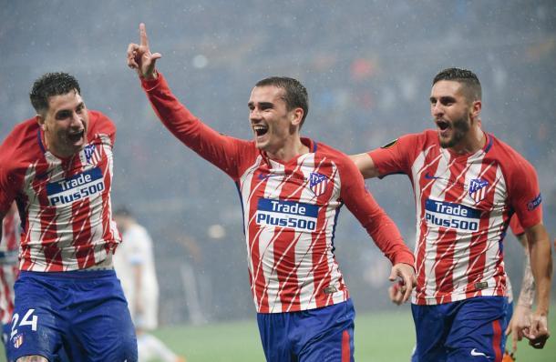 Griezmann marcou os dois primeiros da partida em Lyon (Foto: Philippe Desmazes/AFP/Getty Images)
