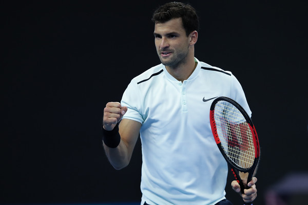 Grigor Dimitrov celebrates winning a point | Photo: Lintao Zhang/Getty Images AsiaPac