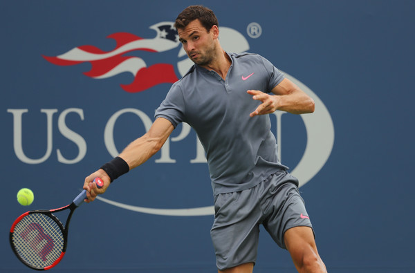 Grigor Dimitrov would be disappointed with his sub-par performance today | Photo: Elsa/Getty Images North America