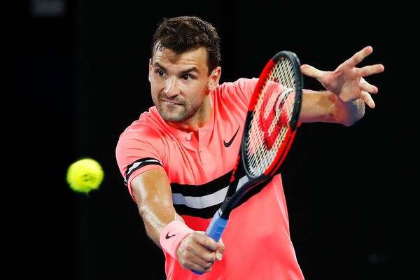 Grigor Dimitrov's backhand was firing today | Photo: Michael Dodge/Getty Images AsiaPac