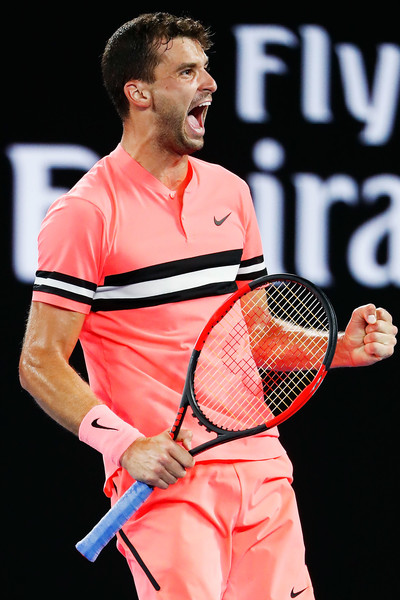 Grigor Dimitrov completes the emotional win | Photo: Michael Dodge/Getty Images AsiaPac