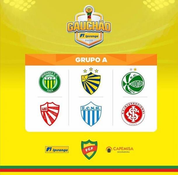 Equipes que integram o Grupo A do Gauchão 2020 (Foto: Reprodução/Instagram Federação Gaúcha de Futebol)