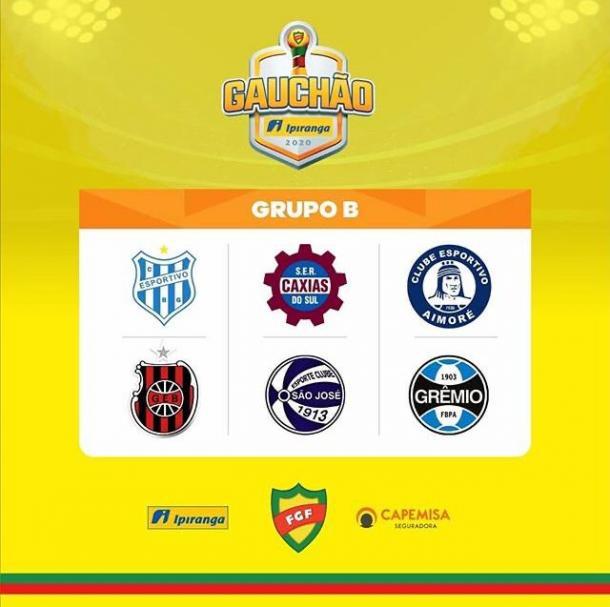 Equipes que integram o Grupo B do Gauchão 2020 (Foto: Reprodução/Instagram Federação Gaúcha de Futebol)
