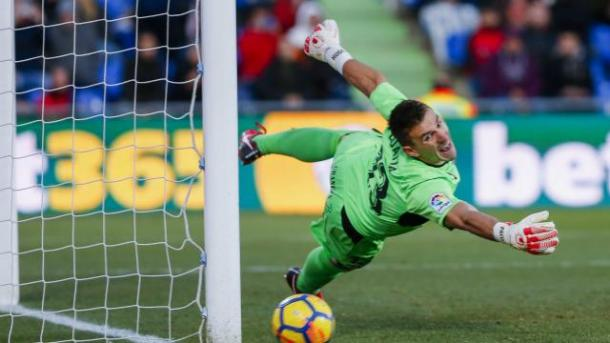 El palo salvó al Getafe del empate a 1    Fotografía: La Liga