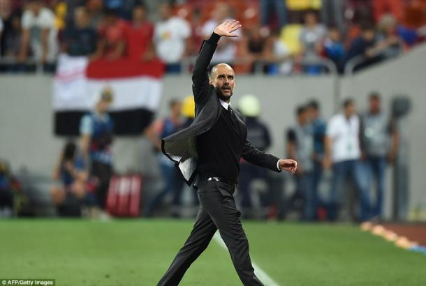 Guardiola was rightfully delighted with City's 5-0 win | Photo: AFP/Getty Images