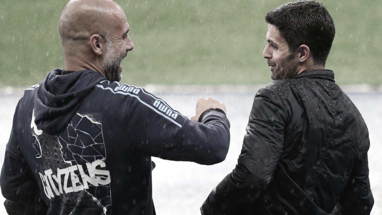 Guardiola y Arteta. Foto: Premier League.