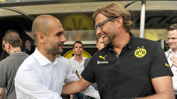 Guardiola e Klopp si sono affrontati già 8 volte in Germania, www.dfb.de