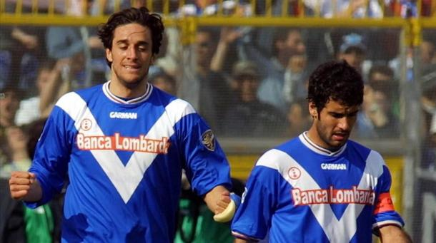 Luca Toni, junto a Pep Guardiola | Foto: El Periódico