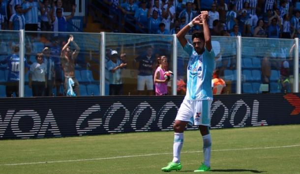Júnior Dutra foi o artilheiro do Avaí em 2017, com 15 gol (Foto: Jamira Furlani/Avaí FC)