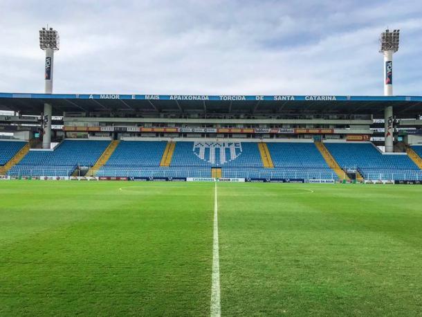 Ressacada tem sido uma fortaleza para o Avaí até agora (Foto: Leandro Boeira/Avaí FC)