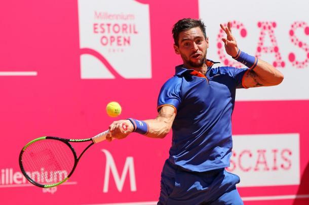 Guido Andreozzi played on Court Cascais. (Photo by Millennium Estoril Open)