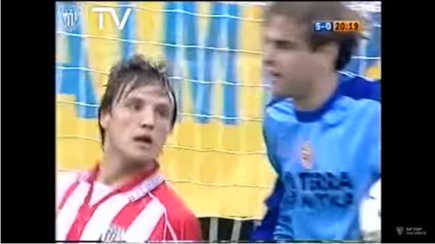 Gurpegui, el dia de su debut. | Captura: Athletic.
