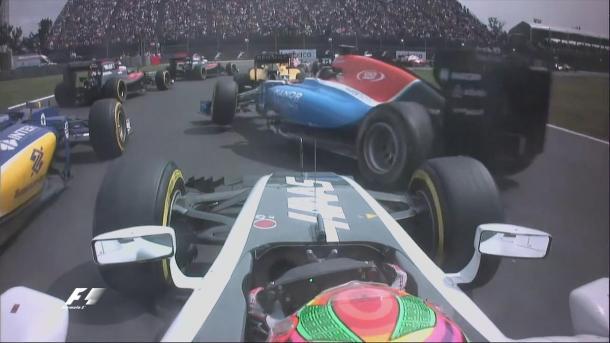 Gutiérrez bateu em Wehrlein, que acertou Ericsson e abandonou; ninguém foi punido (Foto: Divulgação/F1)