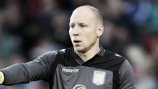 Guzan playing for Aston Villa last season (Picture from Sky Sports)