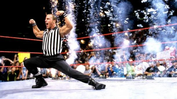 Will HBK appear as a guest referee? Photo-bleacherreport.com