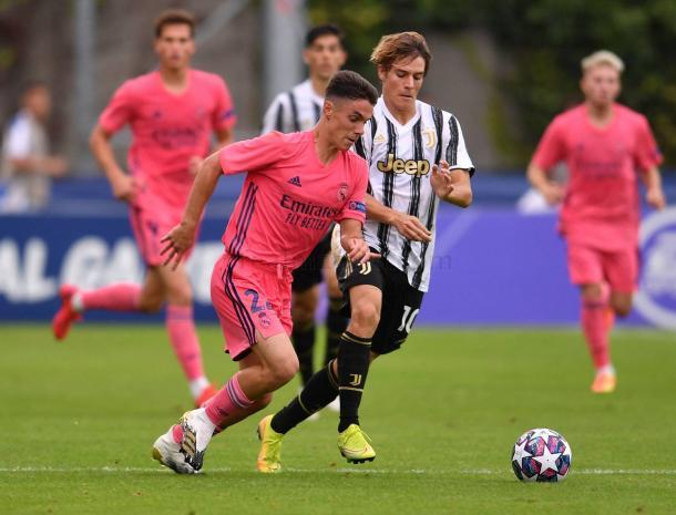 Sergio Arribas, uno de los más destacados ante la Juventus de Turín | Fuente: www.realmadrid.com