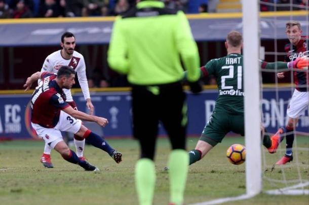 Il primo gol di Dzemaili. Foto: ANSA