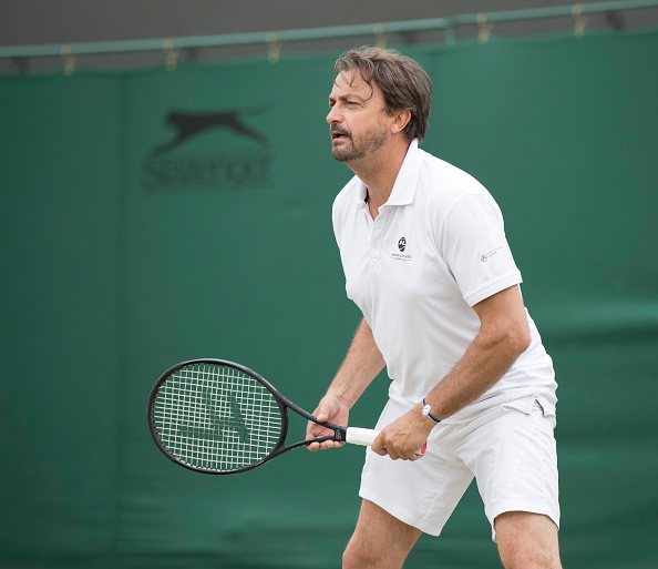 Henri Leconte at Wimbledon in the invitational doubles (Photo: Roland Harrison/Getty Images)